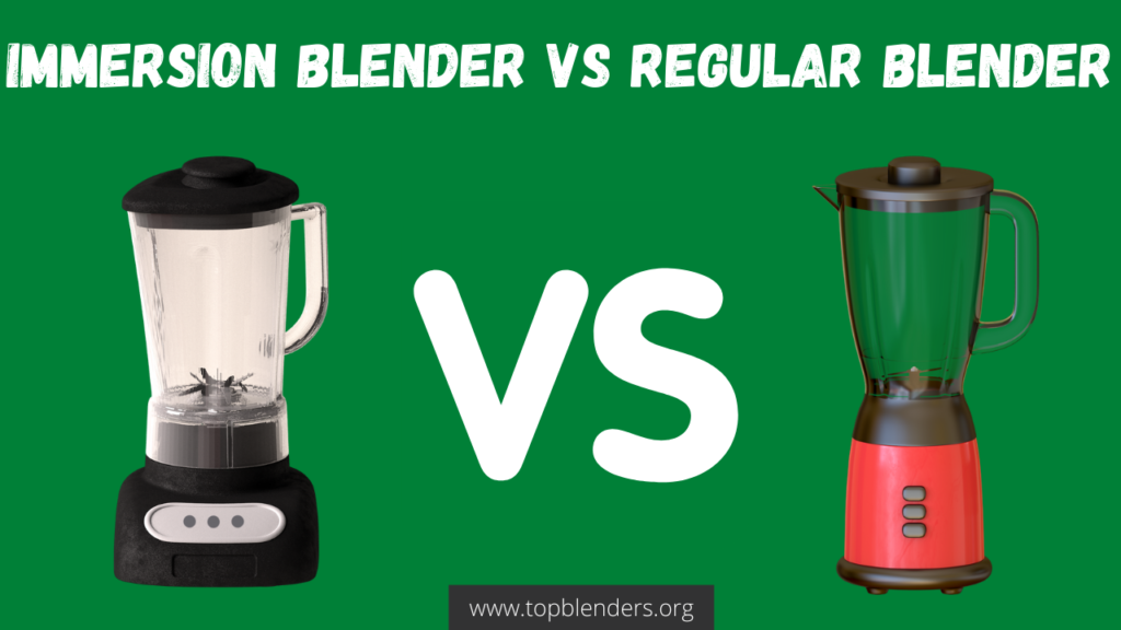 What is the difference between an immersion blender and a regular blender?